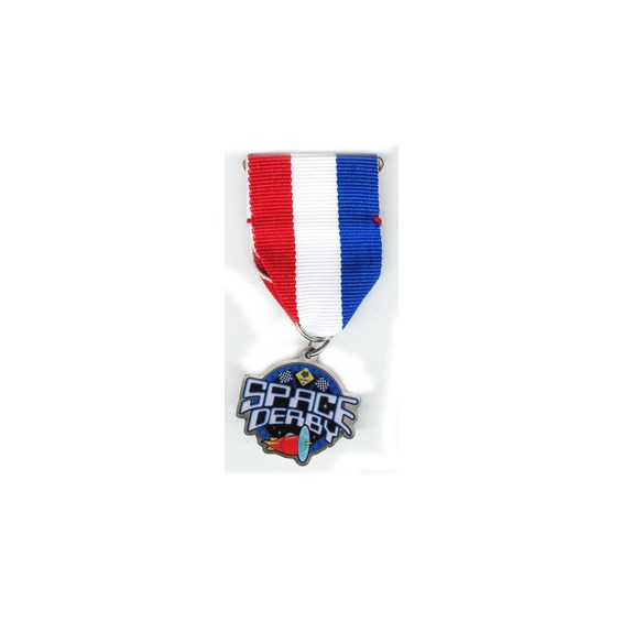 "1-1/4"" Space Derby Medal"