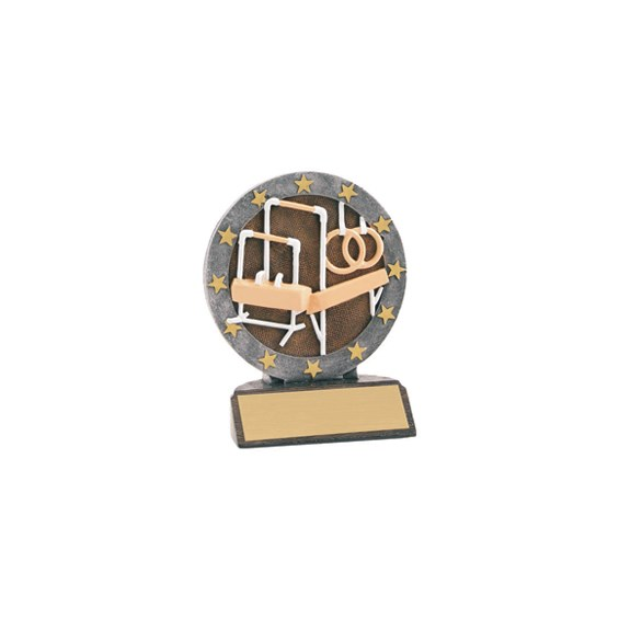 "4-1/2"" Full Color Gymnastics Trophy"