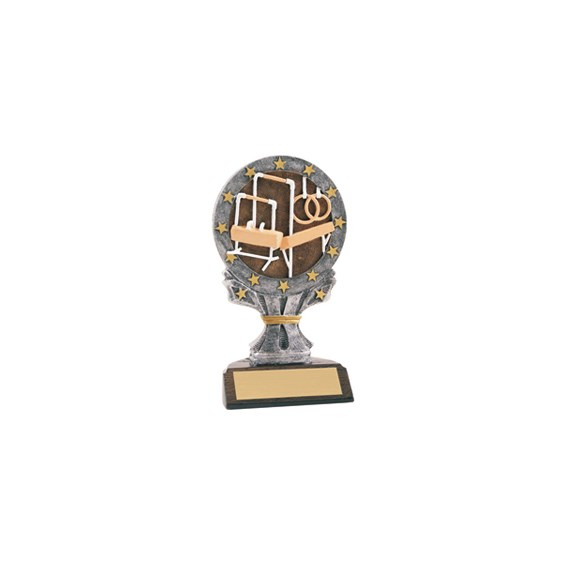 6-1/4 in Full Color Gymnastics Trophy