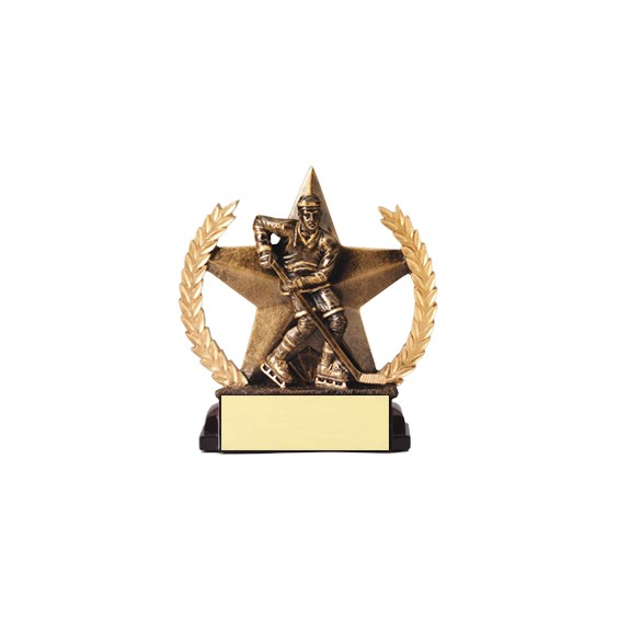 "5-3/4"" Superstar Hockey Trophy"