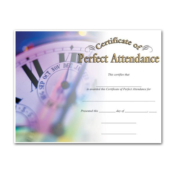 Perfect Attendance (8-1/2 in x 11 in)