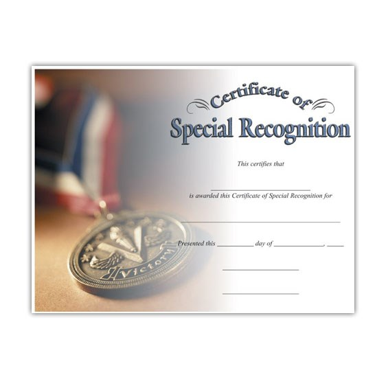 Special Recognition (8-1/2 in x 11 in)