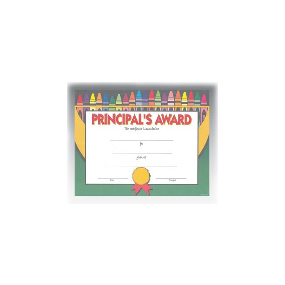 Principal Award (8.5 in x 11 in)