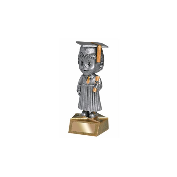 "5.75"" Graduate Bobble Head - Male"