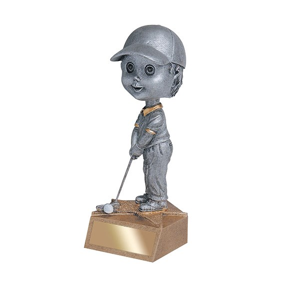 "5.75"" Golf Bobble Head - Male"