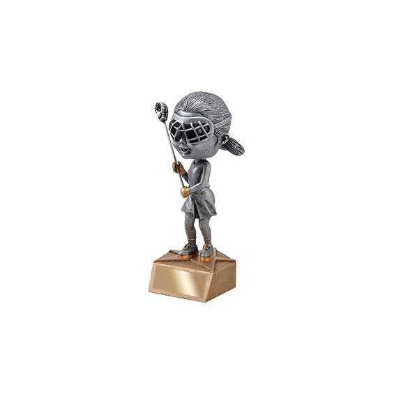 6 in Female Lacrosse Bobble Head Trophy