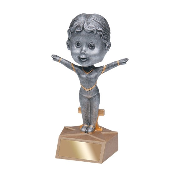 "5.75"" Gymnastics Bobble Head - Female"