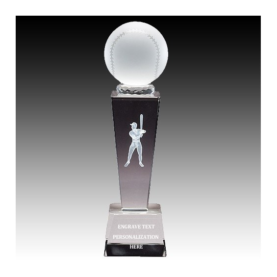 8-3/4 in Male Baseball Sports Crystal