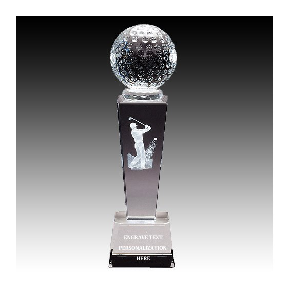"8-3/4"" Male Golf Sports Crystal"
