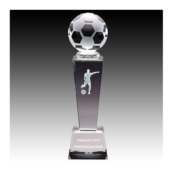 "8-3/4"" Female Soccer Sports Crystal"