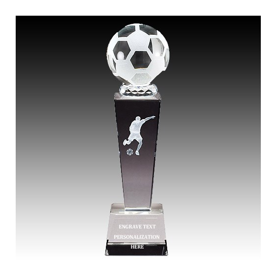 "8-3/4"" Male Soccer Sports Crystal"