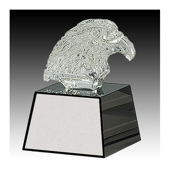 "5-3/4"" Crystal Eagle Head on Base"