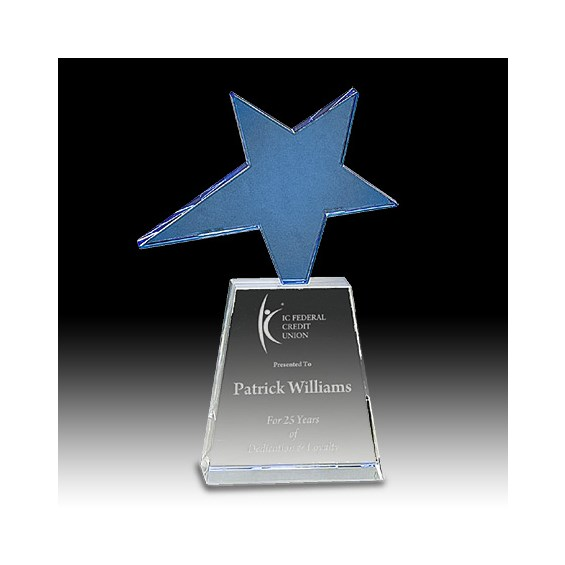 "8"" Crystal Shooting Star Award"