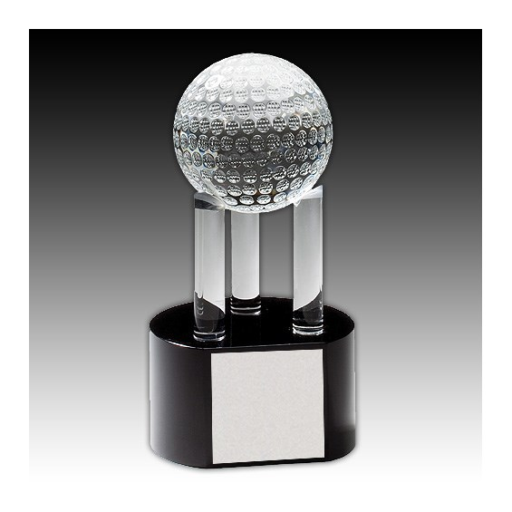 "7-3/4"" Crystal Golf Ball Award"