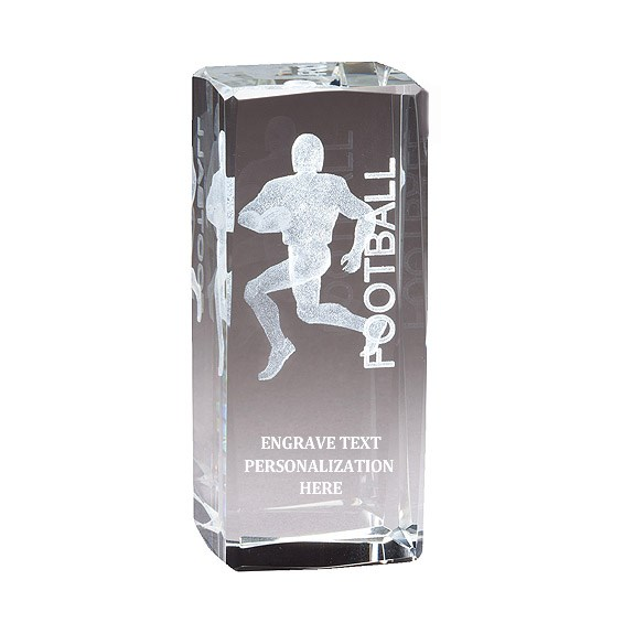"4.5"" Football 3D Laser Sport Crystal"