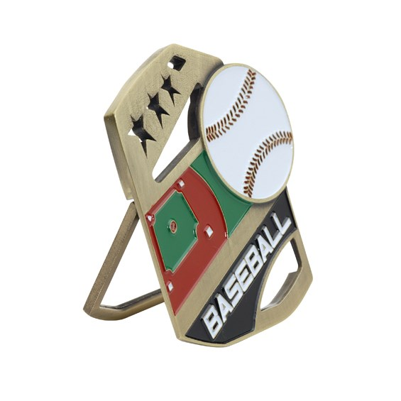 Color Pop Up Baseball Medal