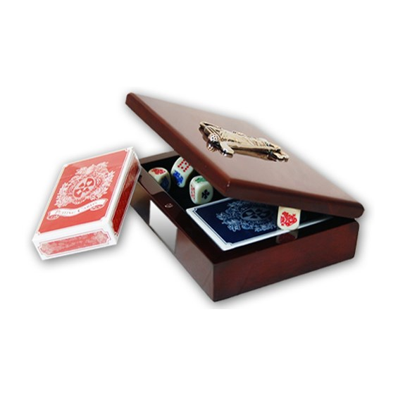 Cherry Wood Card Playing Box Set