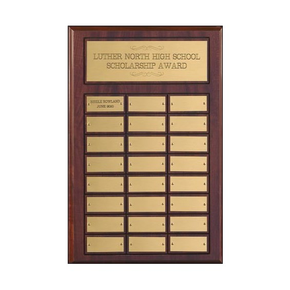 "Multi Year Perpetual Plaque  12"" x 18"""