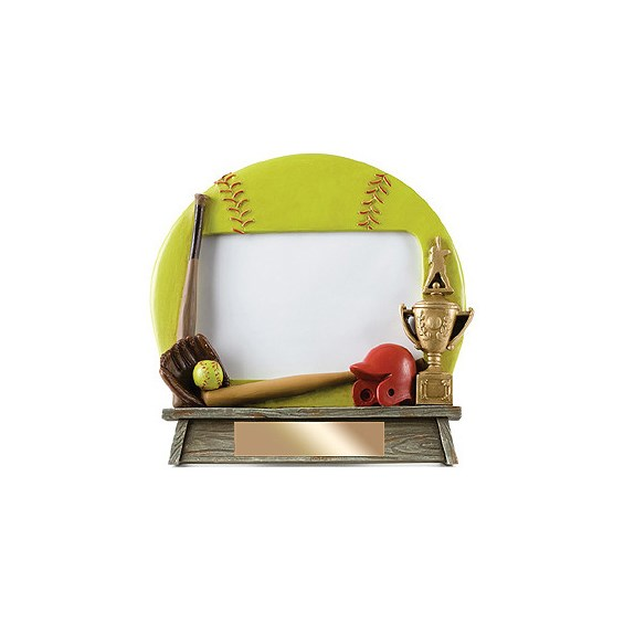 7 in x 6.5 in Vintage Softball Photo Frame