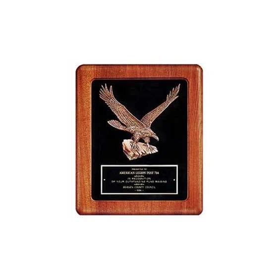 """14"""" x 17"""" American Walnut Eagle Casting Frame"""