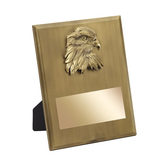 "8"" x 10"" Gold Eagle Resin Plaque"