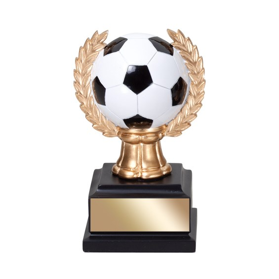 "6"" Soccer Trophy with wreath"