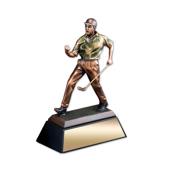 Elegant Resin Golf Sculpture Trophy
