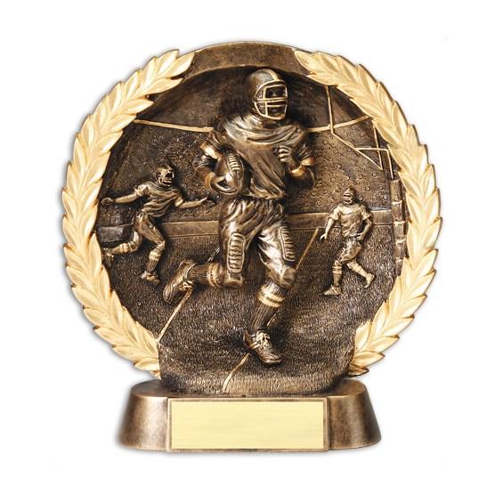 "7 1/2"" Circular Football Trophy Plate"