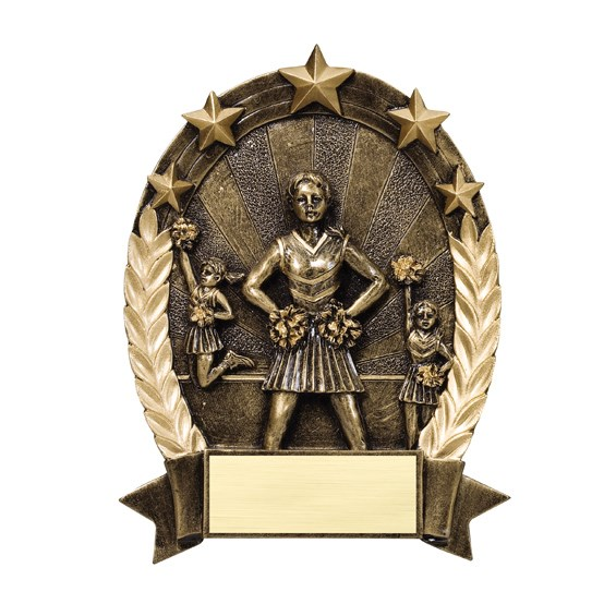 Cheerleading Star Resin Trophy