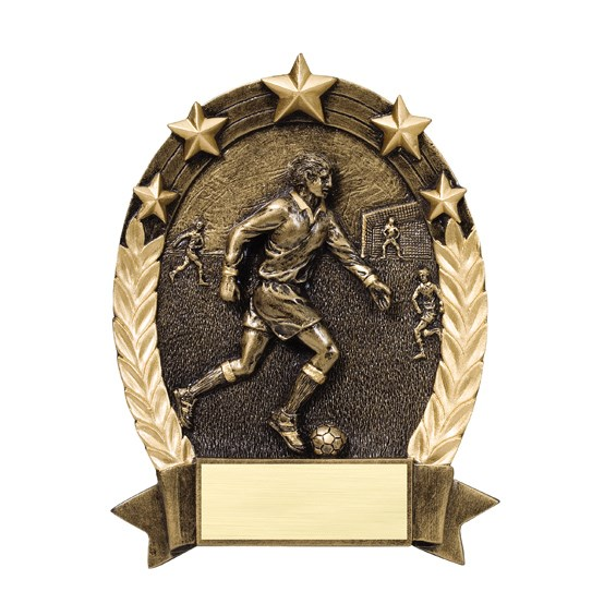 Male Soccer Star Resin Trophy