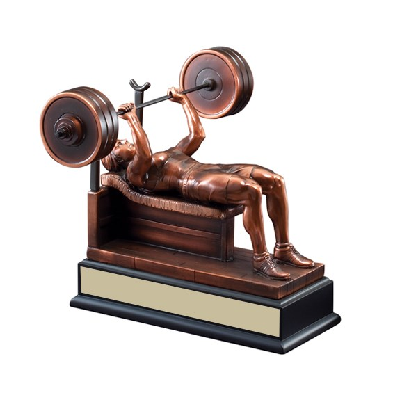 "9"" Female Bench Press Trophy"