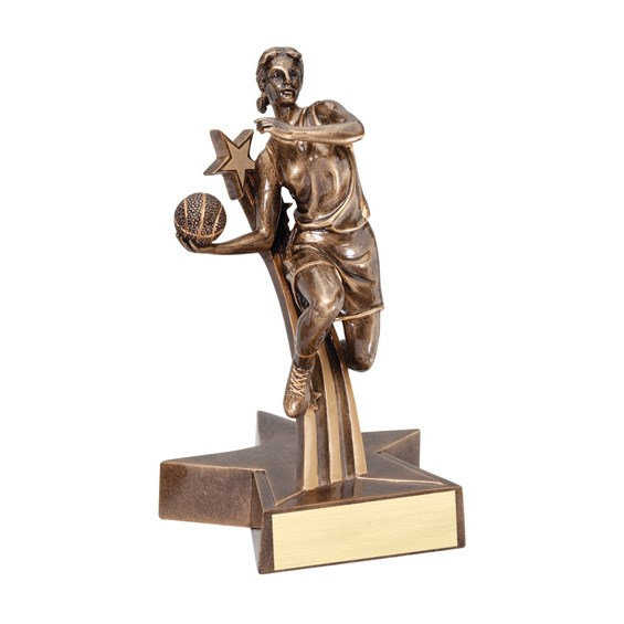 "6-1/2"" Shooting Star Female Basketball Trophy"