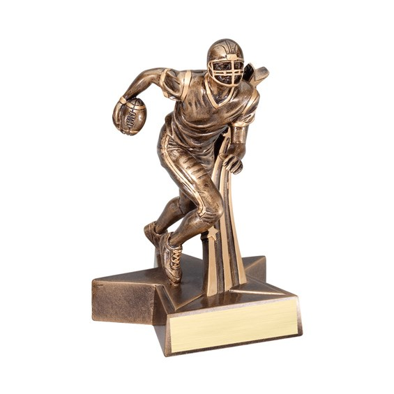 "6-1/2"" Shooting Star Football Trophy"