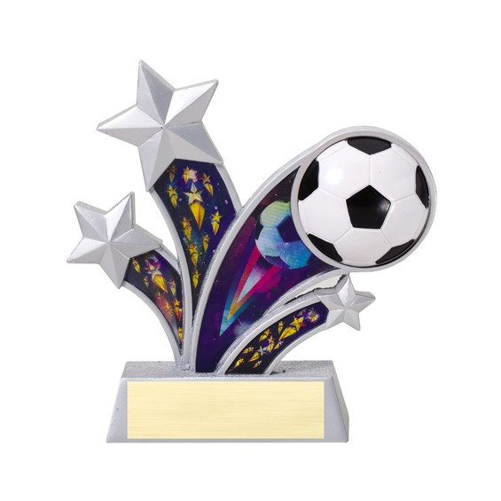 "6"" Rising Star Resin Soccer Trophy"