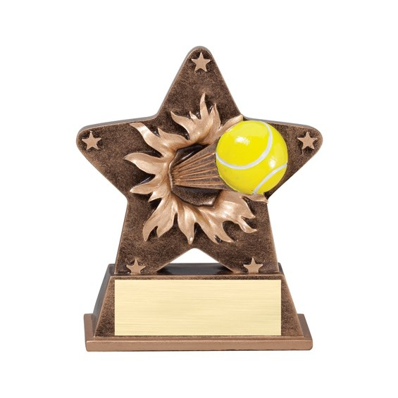 "5 1/4"" Starburst Resin Tennis Trophy"