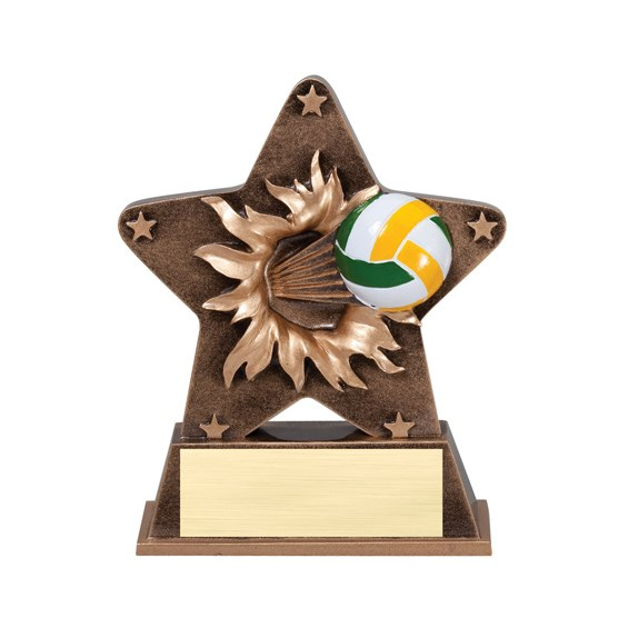 5 1/4 in Starburst Resin Volleyball Trophy