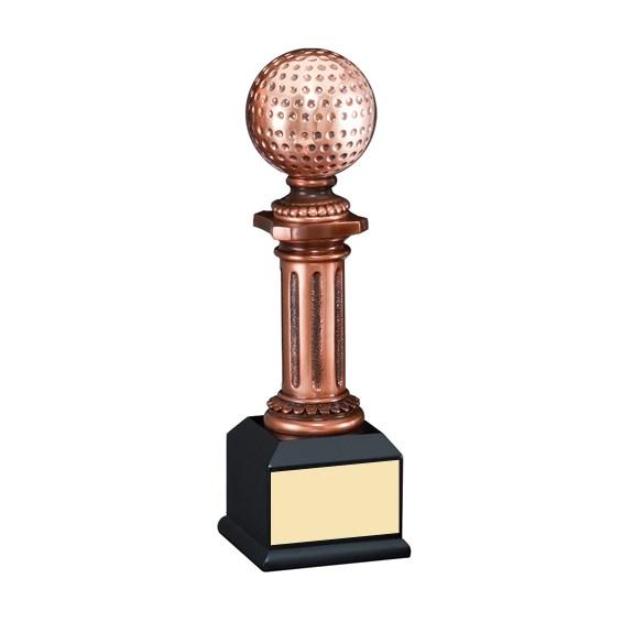 10 in Elegant Electroplated Sculpture Golf Trophy