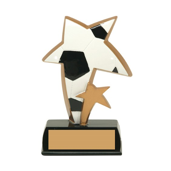 6 in Color Resin Sports Star Soccer Trophy