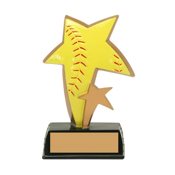 6 in Color Resin Sports Star Softball Trophy