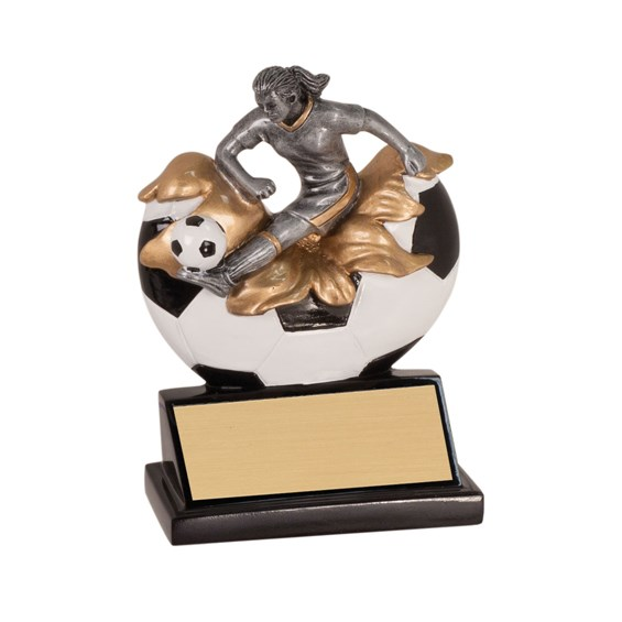 5 1/4 in Xploding Resin Female Soccer Trophy