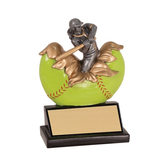 5 1/4 in Xploding Resin Softball Trophy