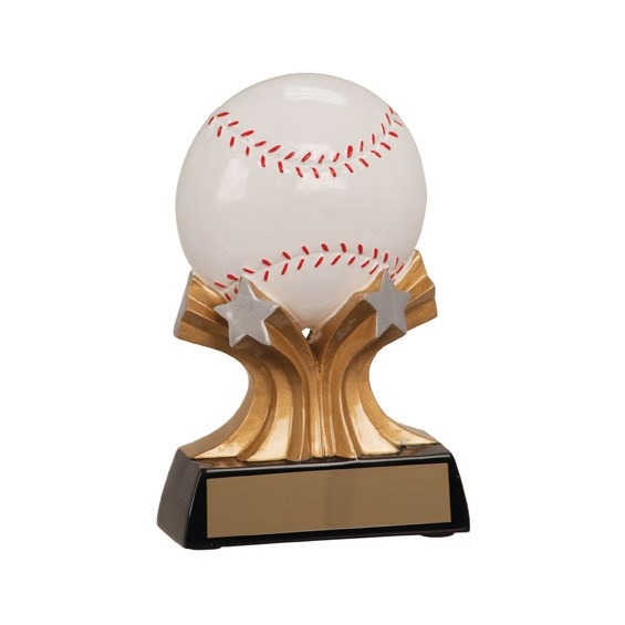 "5"" Shooting Star Resin Baseball Trophy"