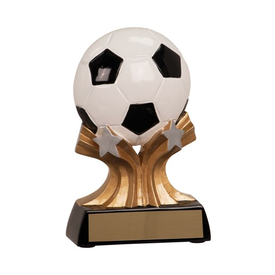 "5"" Shooting Star Resin Soccer Trophy"