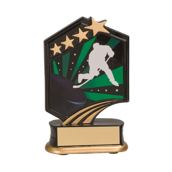 "5 1/2"" Graphic Resin Hockey Trophy"