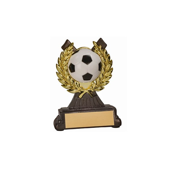 "4-1/2 "" Soccer Resin/Plastic Gold Wreath Trophy"