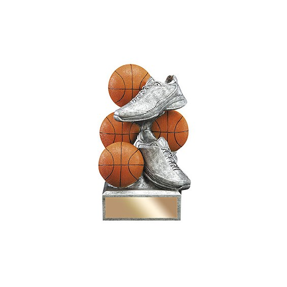 "6"" Basketball Resin Sports Bank"