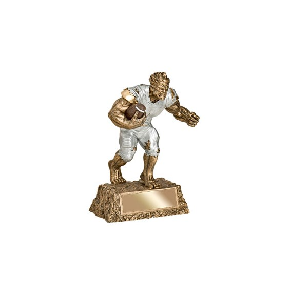 "6-3/4"" Football Monster Resin"