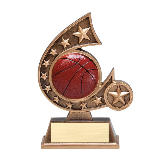 "5-3/4"" Basketball Comet Resin"