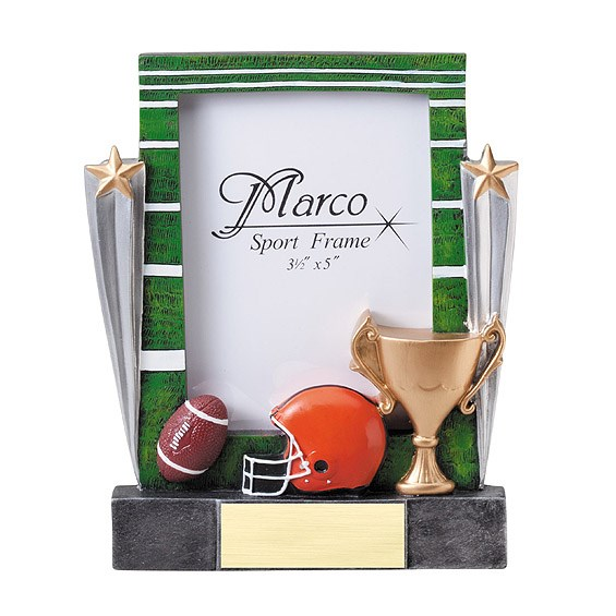 7-1/4 in Football Resin Photo Frame