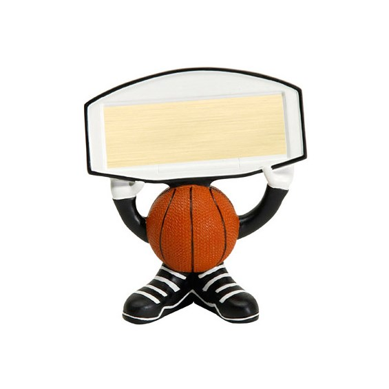 "4.25"" Basketball Ball Head Resin Trophy"